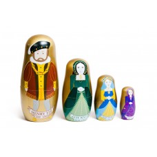 Set of Four Henry and Wives Stacking Dolls