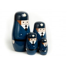 Set of Policeman Stacking Dolls