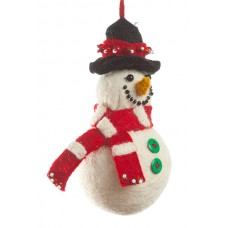 Felt Mini Snowman Christmas Decoration