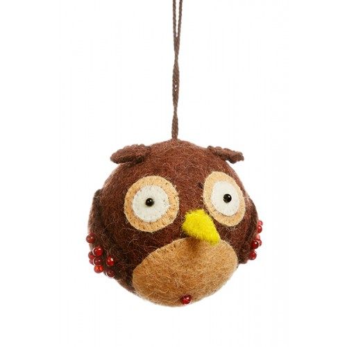 Felt Owl Christmas Decoration