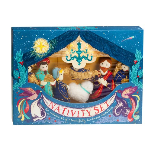 Gift Boxed Nativity Set of Christmas Decorations