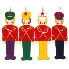 Vintage Circus Band Set of Christmas Decorations