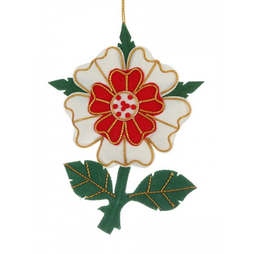 Medieval Rose Christmas Ornament