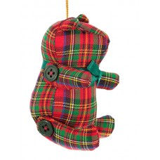 Tartan Teddy Bear Christmas Ornament