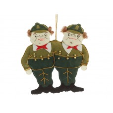 Tweedledum and Tweedledee Christmas Decoration