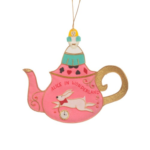 Alice in Wonderland Teapot Decoration