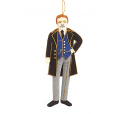 President Theodore Roosevelt American Christmas Ornament