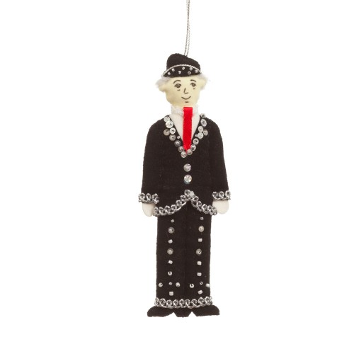 Pearly King Christmas Tree Decoration