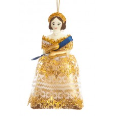 Golden Princess Christmas Tree Ornament