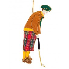 Golfer Christmas Ornament