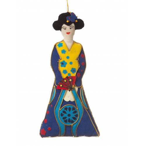 Madame Butterfly Christmas Ornament