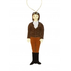 Amelia Earhart Christmas Ornament