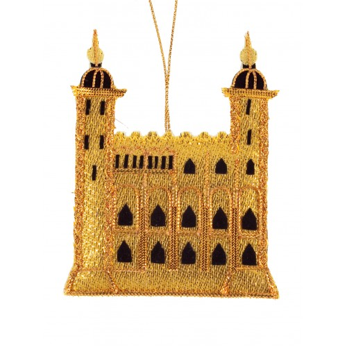 Gold White Tower - Tower of London Christmas Decoration