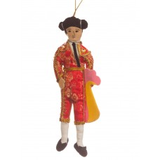 Red Manolete Bullfighter Christmas Decoration