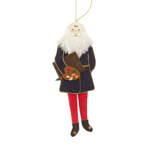 Leonardo da Vinci Christmas Tree Ornament