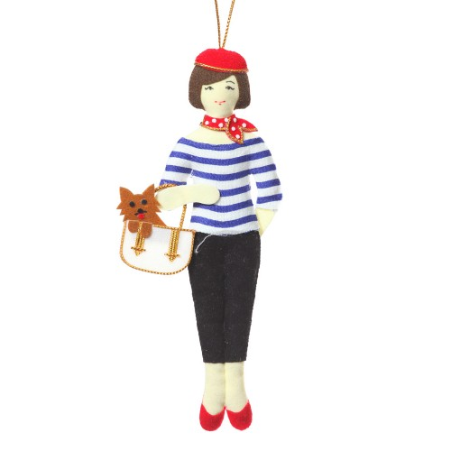 Parisian Lady Christmas Tree Ornament