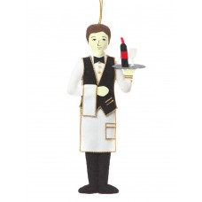 Parisian Waiter Christmas Tree Decoration