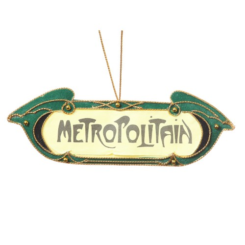 Parisian Metropolitain Sign Christmas Tree Decoration