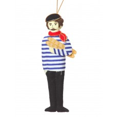 Moustached Parisian Man Christmas Tree Decoration