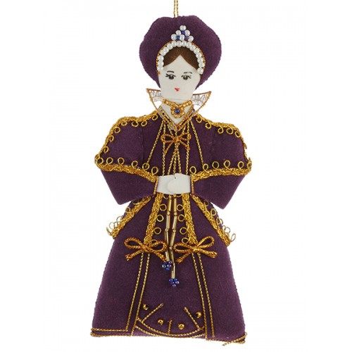 Kateryn Parr Tudor Christmas Tree Decoration
