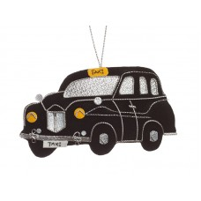 Black Taxi Christmas Ornament