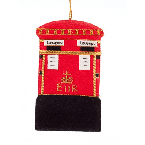 Post Box Christmas Ornament