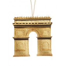 Arc de Triomphe Gold Christmas Ornament