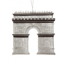 Arc de Triomphe Silver Christmas Ornament
