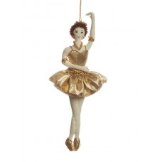 Gold Ballerina Christmas Decoration