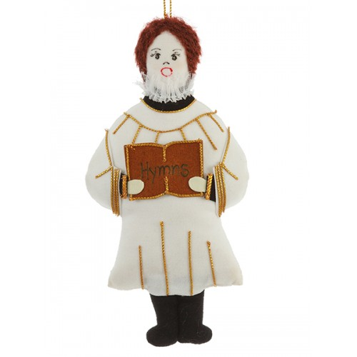 White Cassock Choir Boy Christmas Decoration