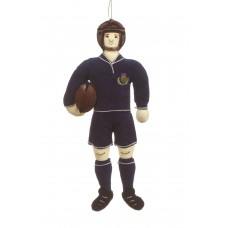 Scotland Rugby Player Christmas Tree Decoration