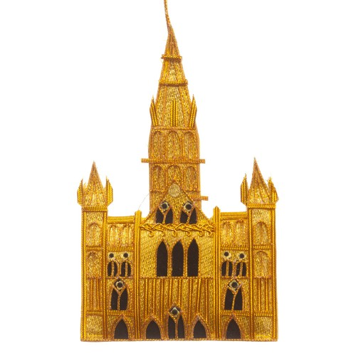 Salisbury Cathedral Gold Christmas Decoration