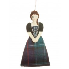 Highland Lady Ornament