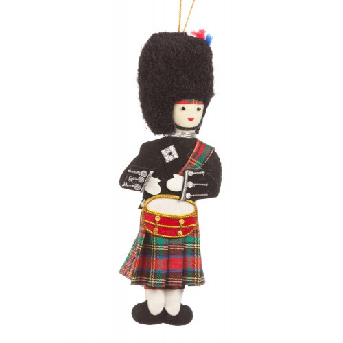 Highland Drummer Christmas Tree Ornament