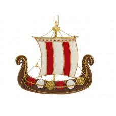 Viking Ship Christmas Ornament