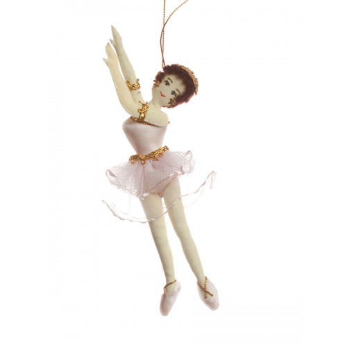 Gold ballerina christmas decoration for Ballet shoes christmas decoration