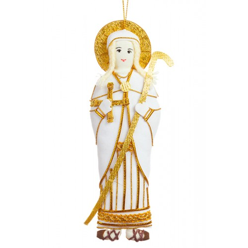 St Brigid of Kildare Christmas Tree Ornament