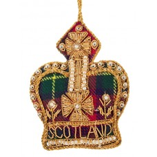 Tartan Crown with Scotland Christmas Tree Decoration