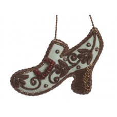 Pale Blue Regency Shoe Christmas Decoration