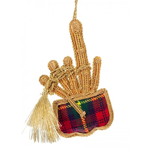 Tartan Bagpipes DS Christmas Decoration