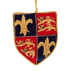 Fleur de Lis and Lions Shield  Christmas Decoration