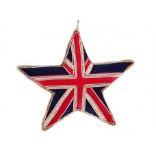 Union Jack Star  Christmas Ornament