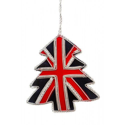 Union Jack Tree  Christmas Ornament