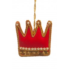 Small Red Crown Christmas Tree Decoration