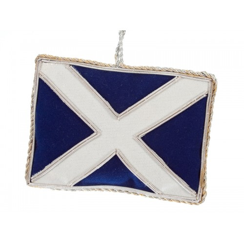 Edinburgh Scottish Flag / Saltire Christmas Decoration
