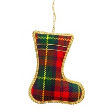 Tartan Boot  Christmas Ornament