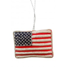 USA and Union Jack Flag Christmas Tree Ornament
