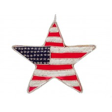 USA Flag Star Christmas Tree Ornament