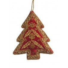 Red Velvet Tree Christmas Decoration