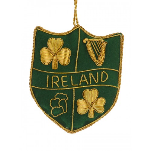 Ireland Shield Christmas Tree Decoration